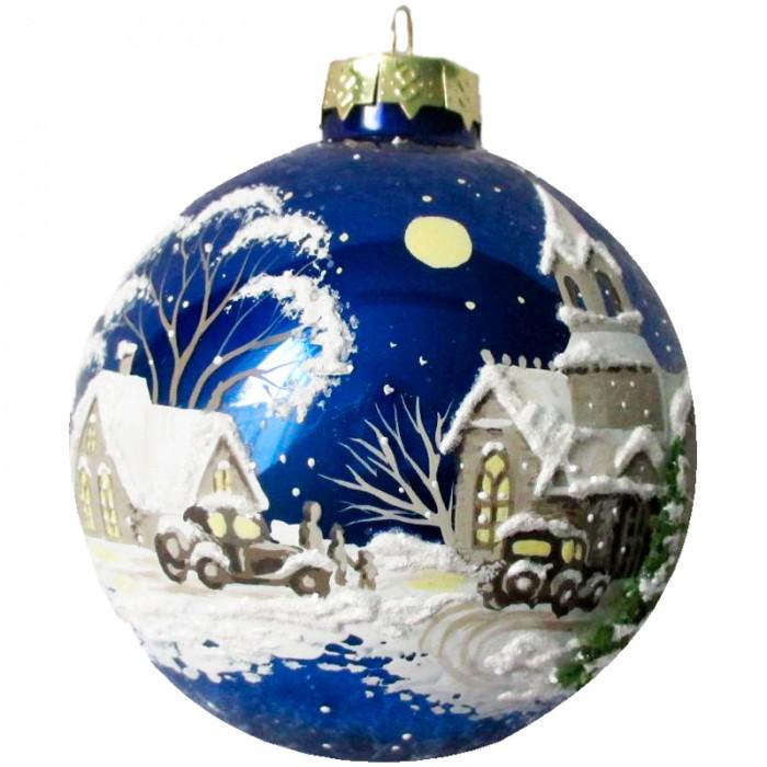 Фото - Елочные игрушки Батик Шар стеклянный Ночь перед Рождеством 65 мм рид б в ночь перед рождеством