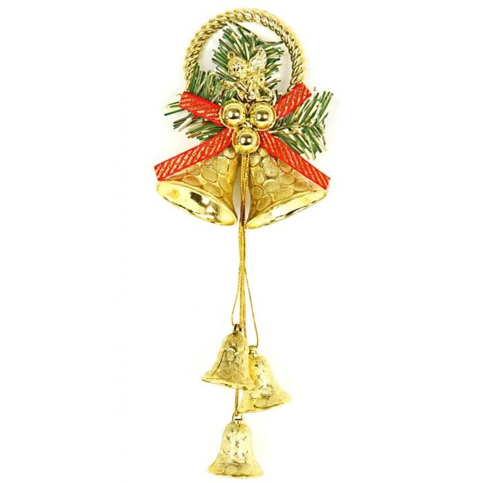 Елочные игрушки Веселый хоровод Елочное украшение Колокольчики 19х10 см елочное украшение золотой завиток 30 см