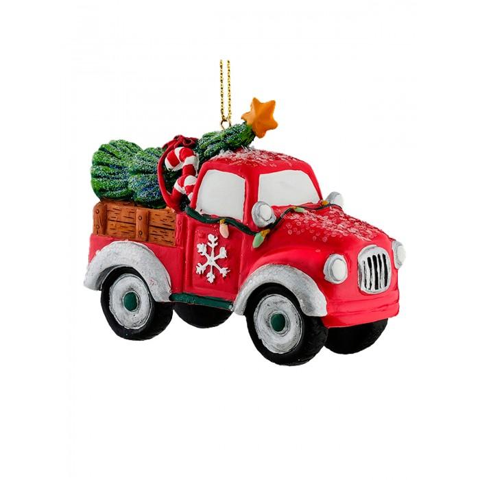 Елочные игрушки Erich Krause Украшение Decor Грузовичок 8 см