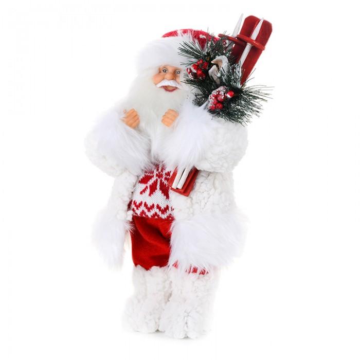Новогодние украшения Maxitoys Дед Мороз в свитере со снежинкой и лыжами 61 см елоччная игрушка дед мороз в