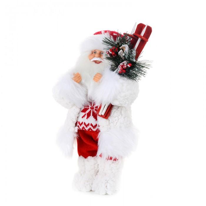 Новогодние украшения Maxitoys Дед Мороз в свитере со снежинкой и лыжами 48 см фигурка maxitoys дед мороз в свитере со снежинкой и лыжами 32 см белый