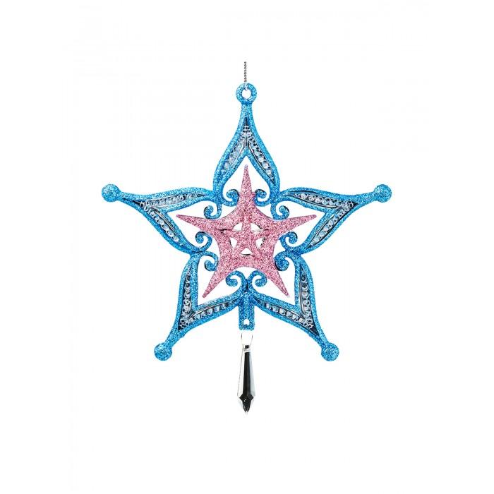 Елочные игрушки Erich Krause Украшение Decor Звезда с кристаллом 15 см