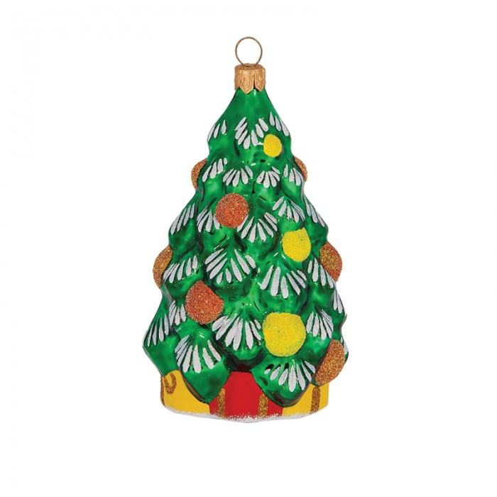 Елочные игрушки Елочка Елочное украшение стеклянное Ель 8 см новогоднее украшение monte christmas елочка 30 15 60 см