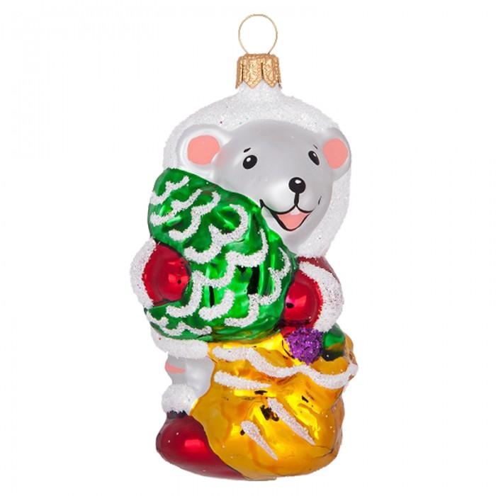 Елочные игрушки Елочка Елочное украшение стеклянное Зодиак 8 см
