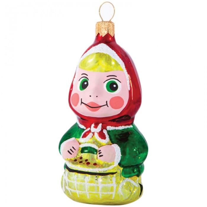 Елочные игрушки Елочка Елочное украшение стеклянное Машенька 7.2 см елочные игрушки fp новогоднее елочное украшение книга с пожеланием внутри