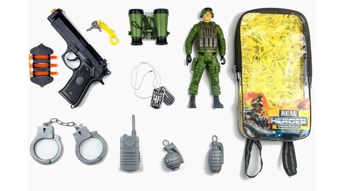 Игровые наборы Junfa Набор военный в рюкзачке 88798