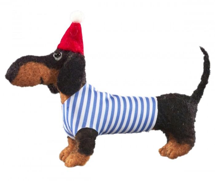 Купить Мягкие игрушки, Мягкая игрушка Erich Krause Такса в тельняшке 20 см