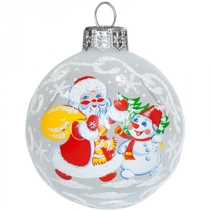 Елочные игрушки Елочка Шар стеклянный Ветерок 6 см елочные игрушки елочка шар стеклянный геометрический 6 см
