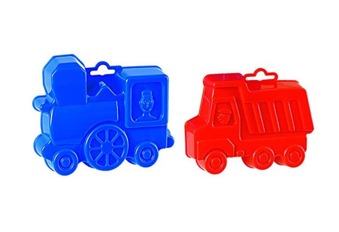 Игрушки в песочницу Полесье Набор формочек (самосвал+паровоз) полесье набор для песочницы 469