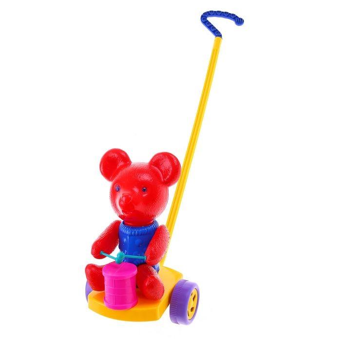 Фото - Каталки-игрушки POLtoys Медведь с барабаном лиса с барабаном