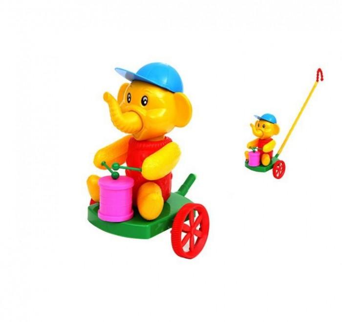 Фото - Каталки-игрушки POLtoys Слон с барабаном лиса с барабаном