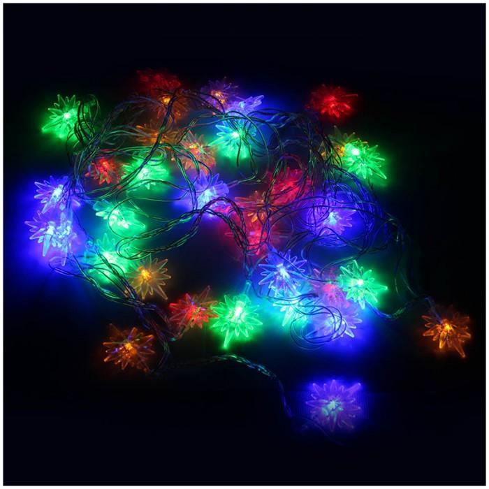 Новогодние украшения Веселый хоровод Электрогирлянда светодиодная 40 ламп 5.1 м недорого