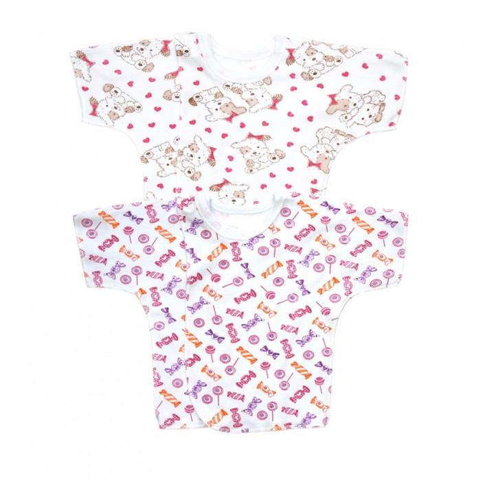 Купить Лялечка Комплект распашонок детских с коротким рукавом 2 шт. 2-105-0003104 в интернет магазине. Цены, фото, описания, характеристики, отзывы, обзоры