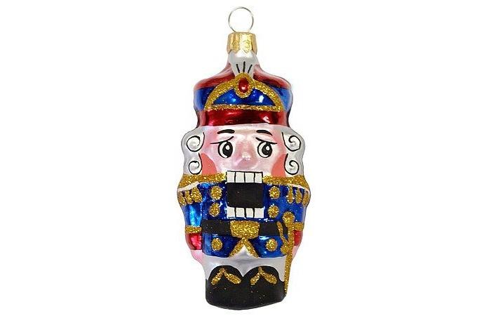 Купить Елочные игрушки, Елочка Елочное украшение стеклянное Щелкунчик-2 8.2 см