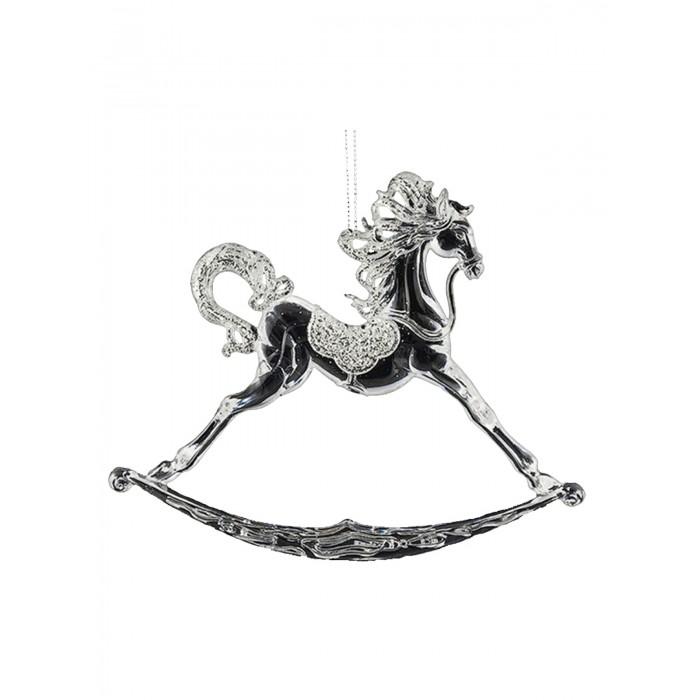 Елочные игрушки Erich Krause Ёлочная игрушка Decor Лошадка-качалка хрустальная 15 см