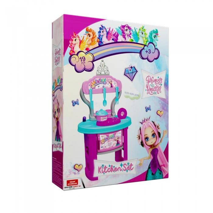 Ролевые игры Terides Набор кухня на ножках Принцесса и Единорог (19 предметов)