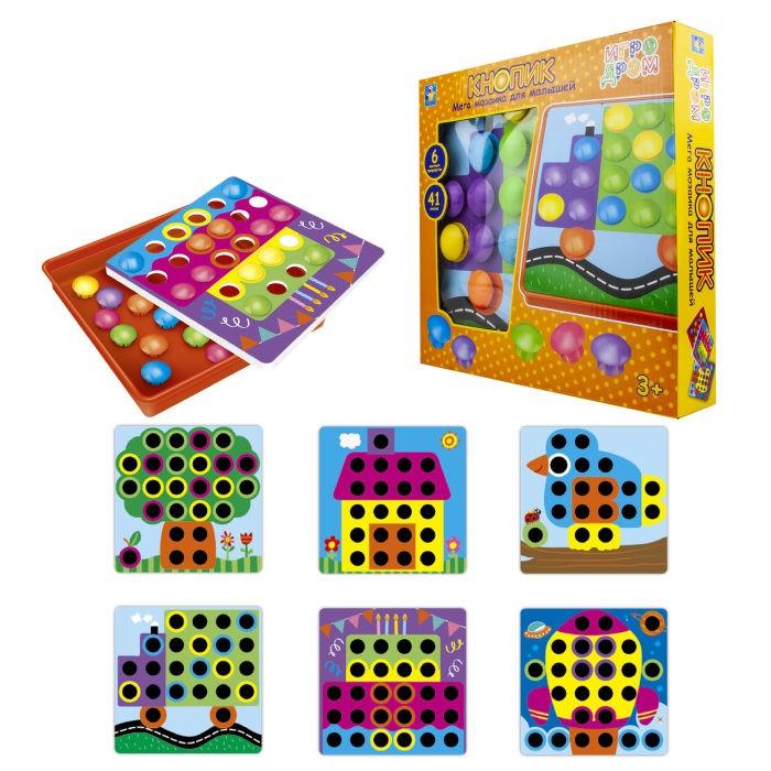 1 Toy Игродром Мозаика для малышей Кнопик 6 трафаретов