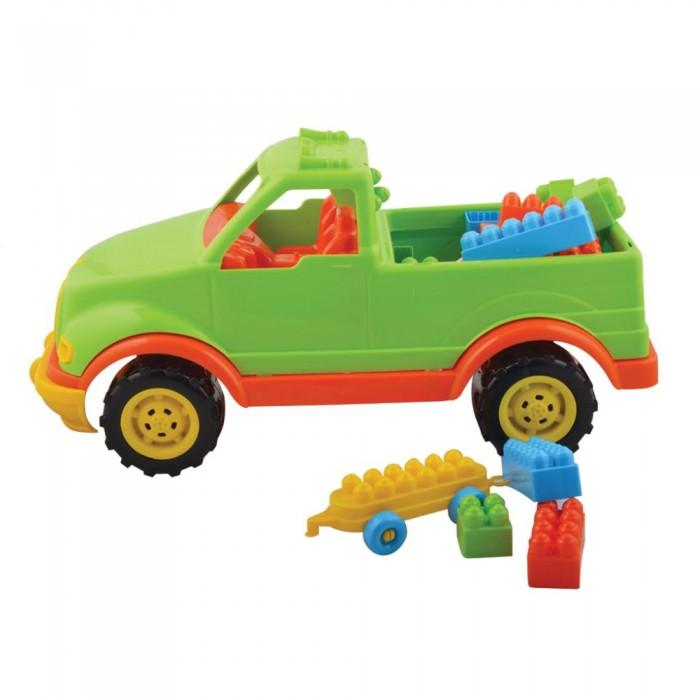 Машины Terides Машинка пикап 44 см с блоками 36 штук