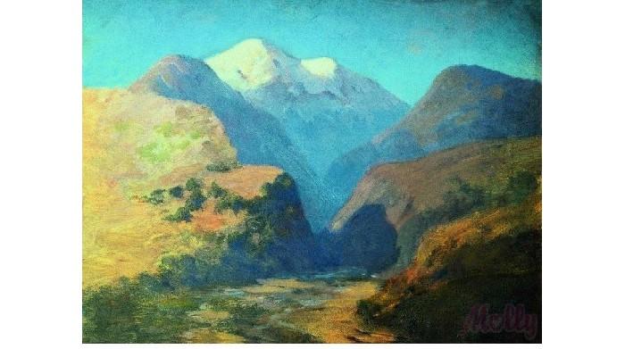 Картины по номерам Molly Картина по номерам Снежные вершины Кавказ 40х50 см molly мозаичная картина зеленая долина 40х50 см