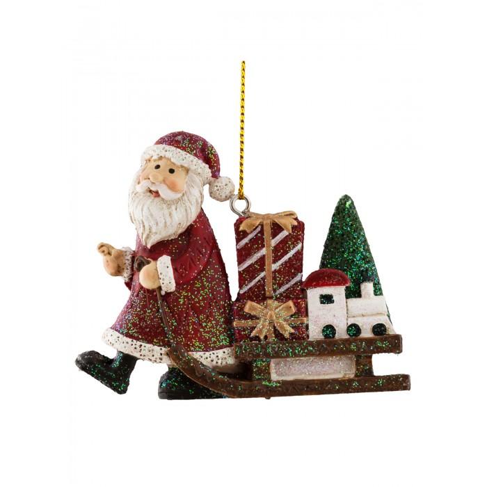 Елочные игрушки Erich Krause Decor Украшение Санки Деда Мороза 7.5 см марахин в волшебные сани деда мороза книжка вырубка на картоне