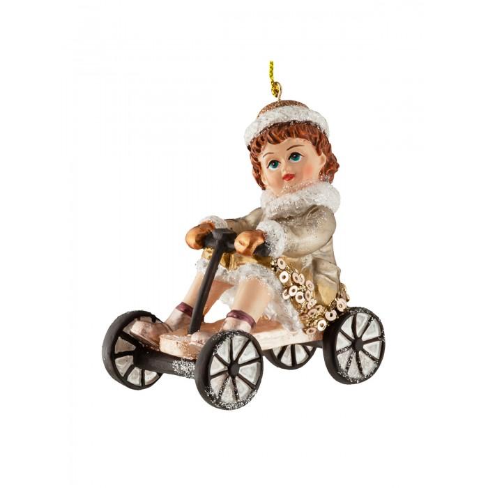 Купить Елочные игрушки, Erich Krause Decor Украшение Девочка на велосипеде 8 см