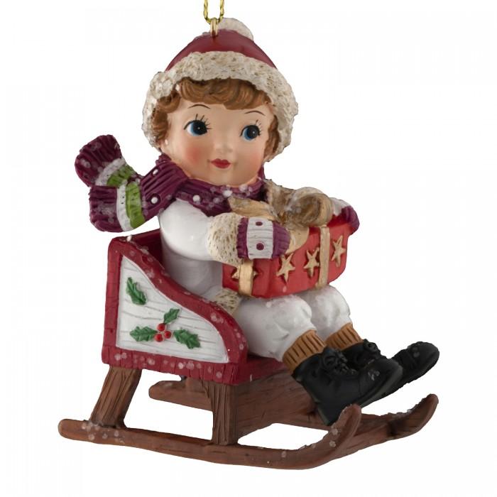 Елочные игрушки, Erich Krause Decor Украшение Веселые сани 8 см  - купить со скидкой