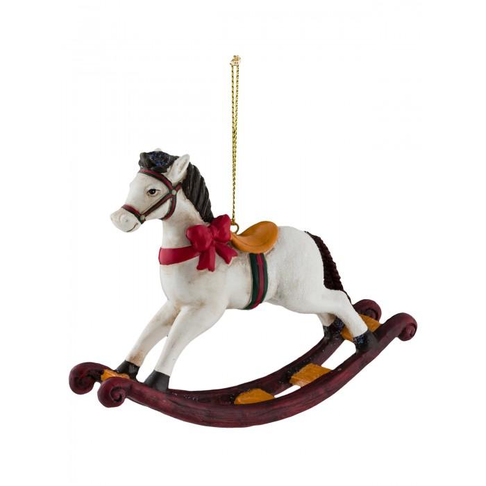 Купить Елочные игрушки, Erich Krause Decor Украшение Лошадка-качалка 10 см