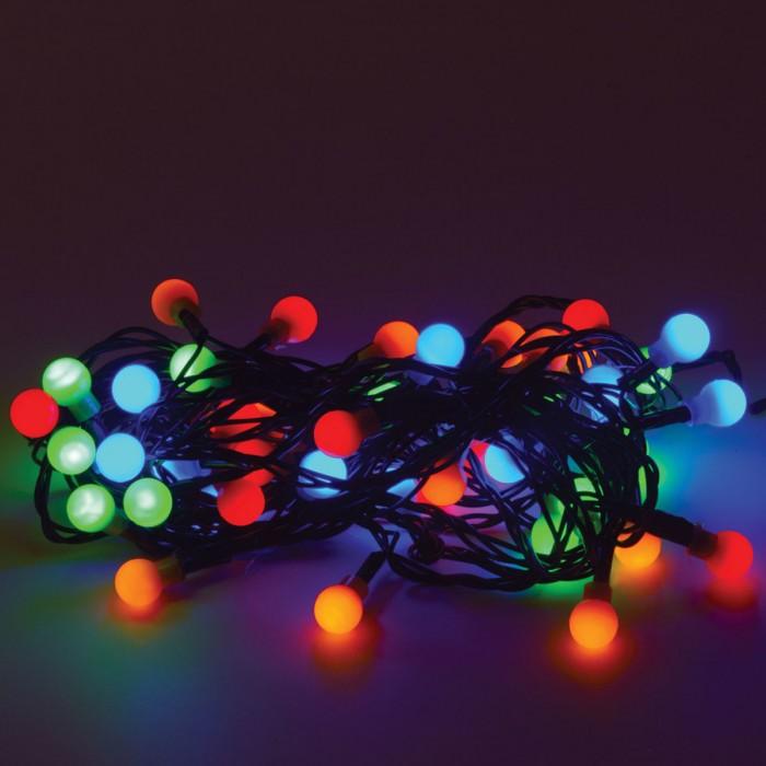 Картинка для Новогодние украшения Золотая сказка Электрогирлянда светодиодная Шарики 50 ламп 5 м