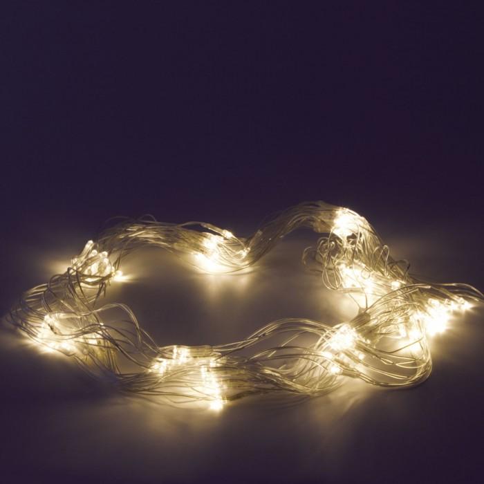 Картинка для Новогодние украшения Золотая сказка Электрогирлянда светодиодная Сеть 120 ламп 1,5х1 м