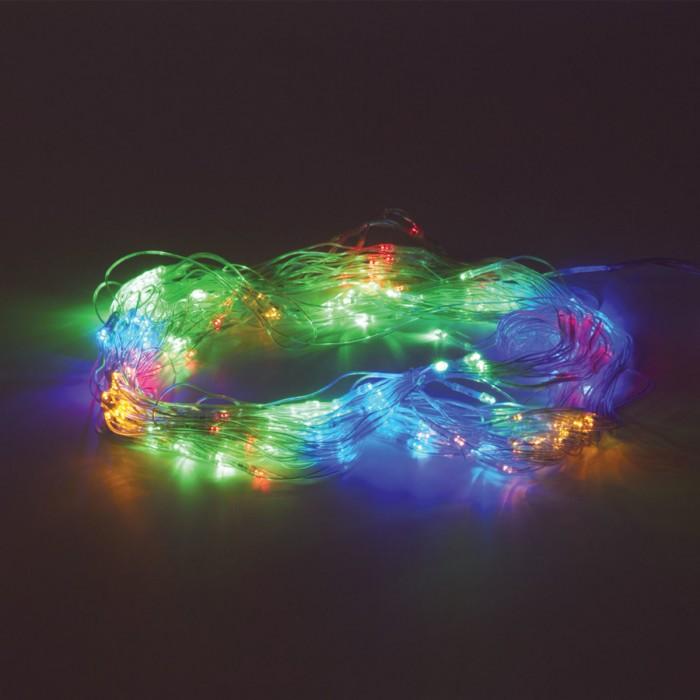 Картинка для Новогодние украшения Золотая сказка Электрогирлянда светодиодная Сеть 160 ламп 1,5х1,5 м