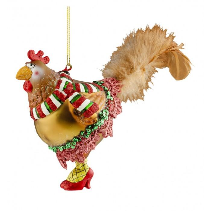 Купить Елочные игрушки, Erich Krause Decor Украшение Диско-Курочка 18 см