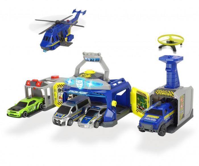 Dickie Полицейский штаб 4 машины + 1 вертолет фото