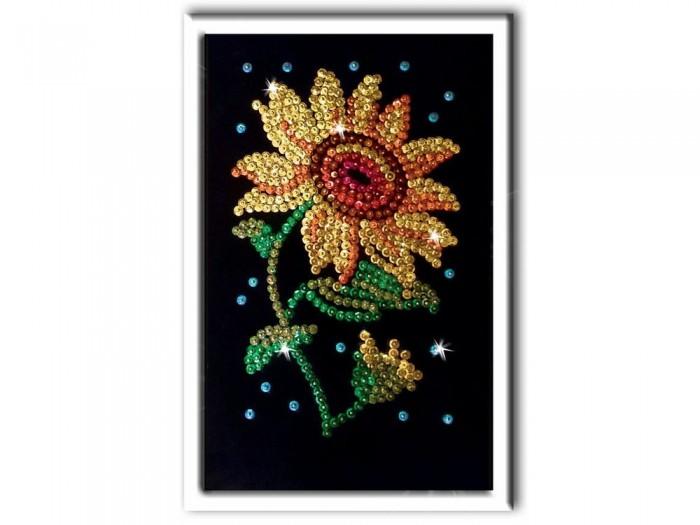 Картины своими руками Волшебная мастерская Мозаика из пайеток Подсолнух м020 картины своими руками волшебная мастерская мозаика из пайеток букет