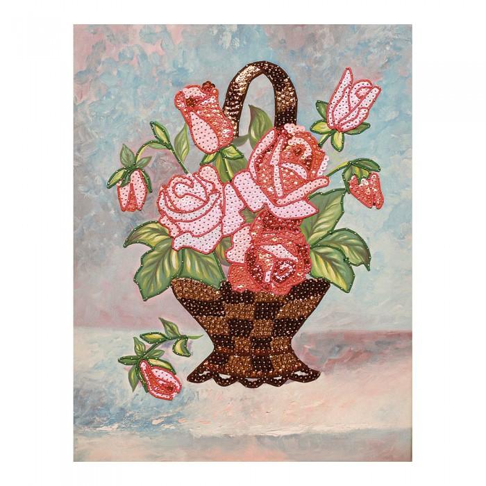 Картины своими руками Волшебная мастерская Мозаика из пайеток на холсте Букет роз МХ-16 картины своими руками волшебная мастерская мозаика из пайеток букет