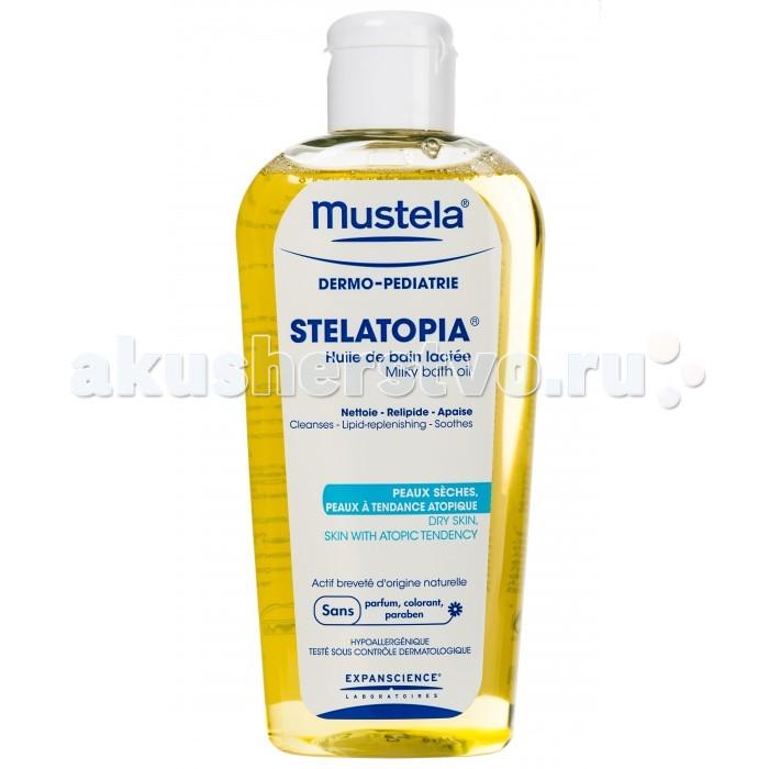Mustela Масло для ванны Stelatopia для новорожденных, младенцев и детей, 200 мл