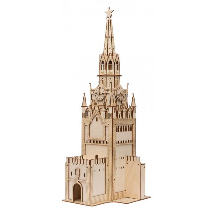 Сборные модели Tadiwood Конструктор деревянный Спасская башня Московского Кремля брошь спасская башня