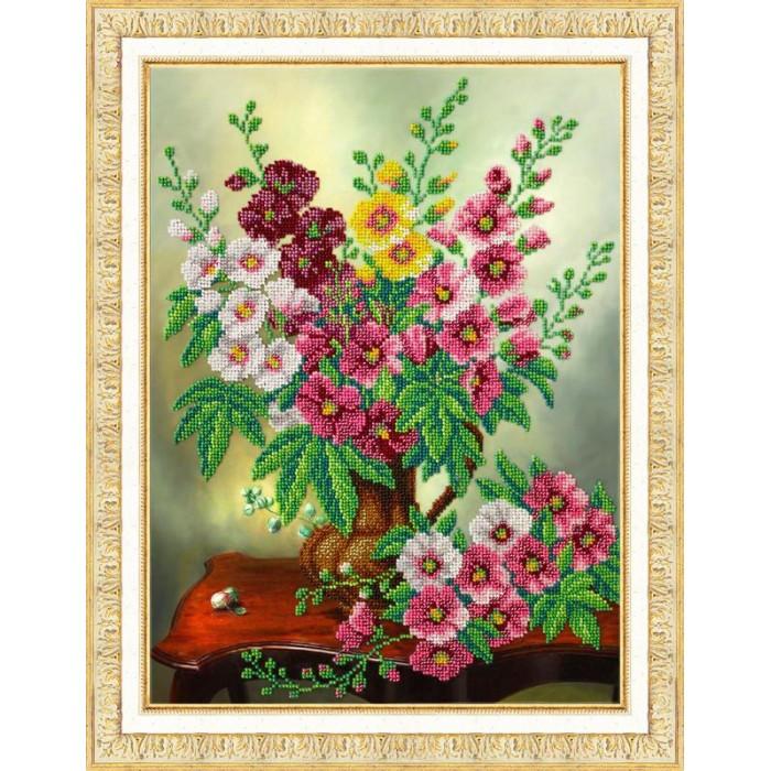 Купить Паутинка Набор для вышивания бисером Мальвы в интернет магазине. Цены, фото, описания, характеристики, отзывы, обзоры
