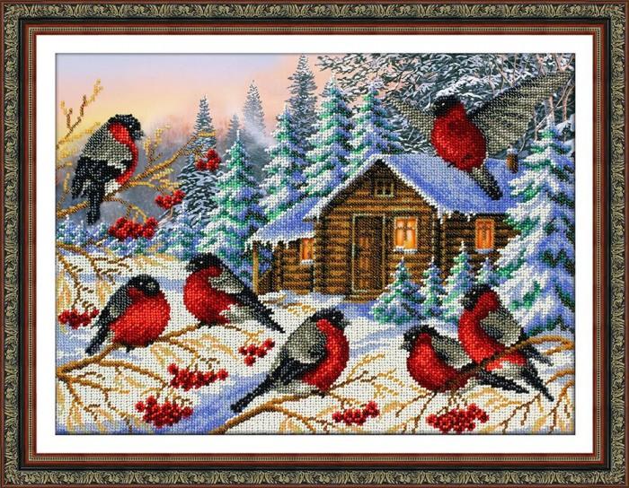 Купить Наборы для вышивания, Паутинка Набор для вышивания бисером Снегири