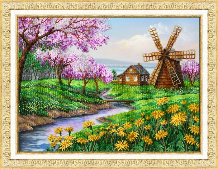 Паутинка Набор для вышивания бисером В краю весны фото