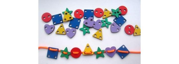 Купить Деревянная игрушка Смайл Декор шнуровка Геометрические фигуры в интернет магазине. Цены, фото, описания, характеристики, отзывы, обзоры
