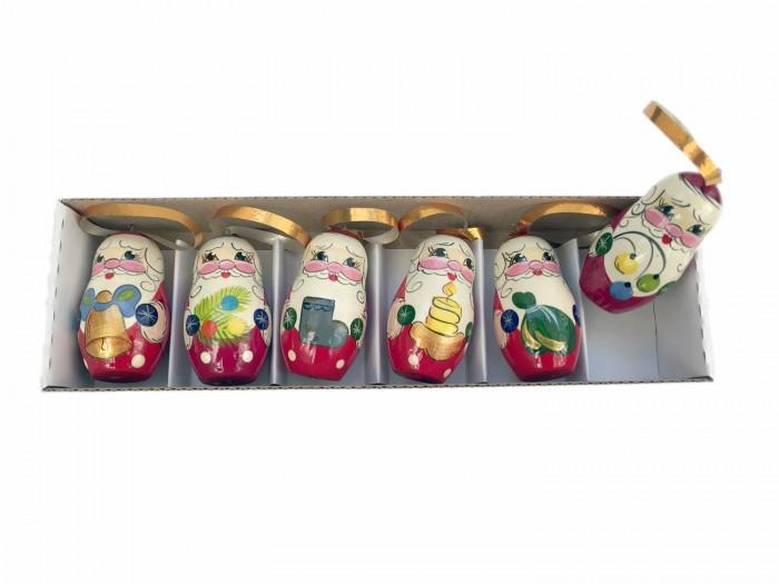 Купить Елочные игрушки, Уланик Новогодний набор Дед Мороз 6 предметов