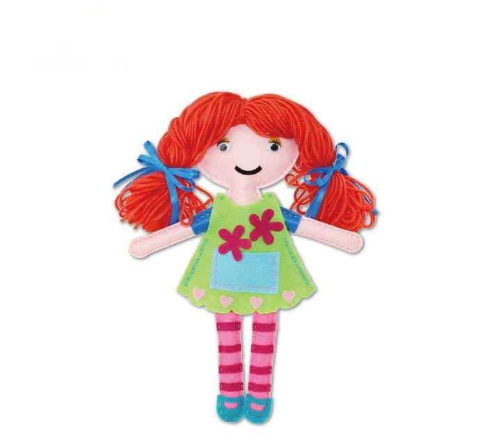 Наборы для творчества Апплика Набор для творчества Шьем куклу из фетра Кукла в зеленом платье