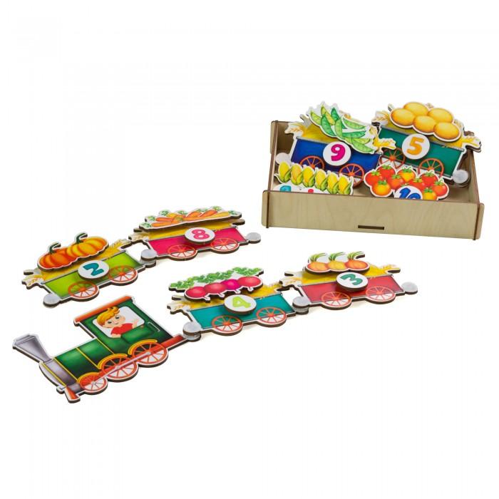 Купить Деревянные игрушки, Деревянная игрушка Сибирские игрушки Липучка Поезд с овощами