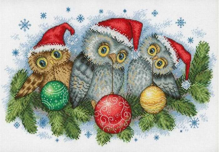 МП Студия Набор для вышивания Рождественские помощники фото