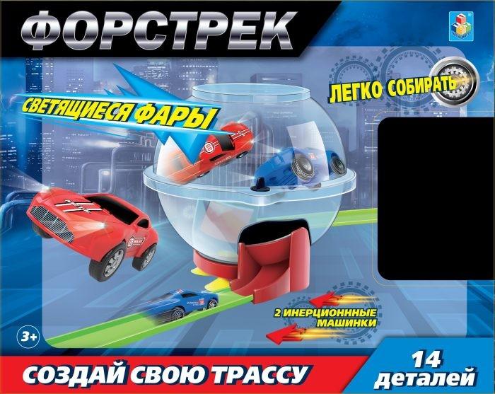 Машины 1 Toy Форстрек автодром: 2 машинки и сфера