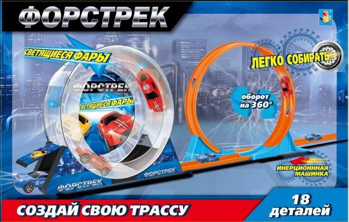 Машины 1 Toy Форстрек автодром: 1 машинка, барабан и 1 вираж заржицкая э заяц и волшебный барабан