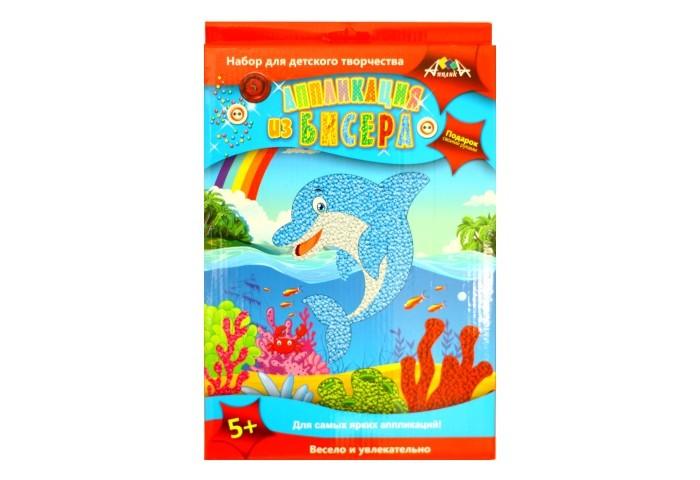 Фото - Аппликации для детей Апплика Аппликация из бисера А4 Дельфин набор для творчества апплика картина из пайеток русалка основа формата а4 рамка клей пва декор с2422 10