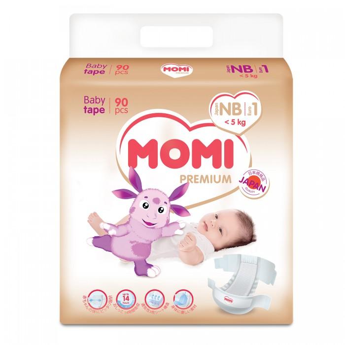 Подгузники Momi Premium подгузники NB (0-5 кг) 90 шт