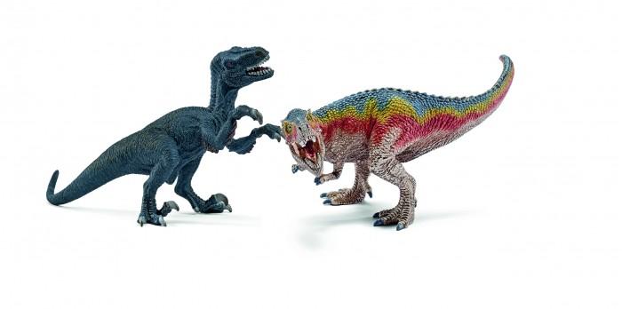 Игровые фигурки Schleich Фигурка Набор мини динозавров Тиранозавр Рекс и Велоцераптор рисуем 50 динозавров и других доисторических