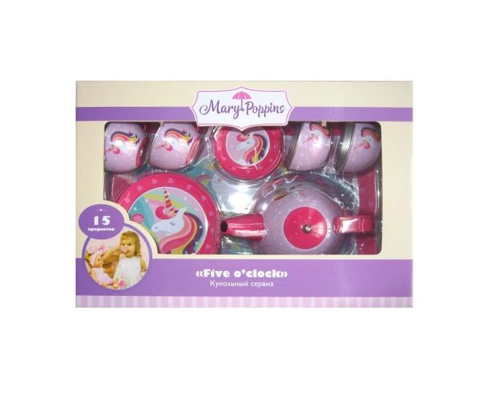 ролевые игры wonderworld чайный сервиз 5 предметов Ролевые игры Mary Poppins Набор металлической посуды Единорог (15 предметов)